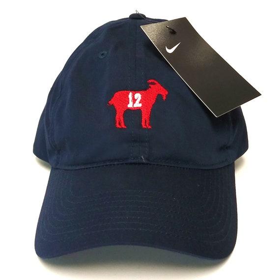 The Goat Dad Cap Tom Brady Brady Nike Embroidered Goat Cap  2500f4989bf