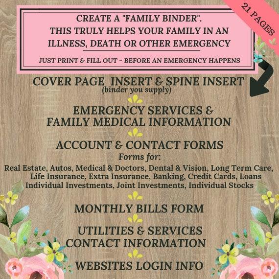 Insurance Binder Form
