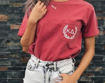 Kappa Delta Comfort Colors Laurel ΚΔ Unisex Pocket T-shirt