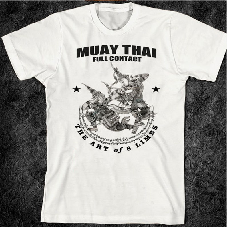 69c81d88930bbb Muay Thai T-Shirt Thai Boxing Yak Sant Full Contact Muay
