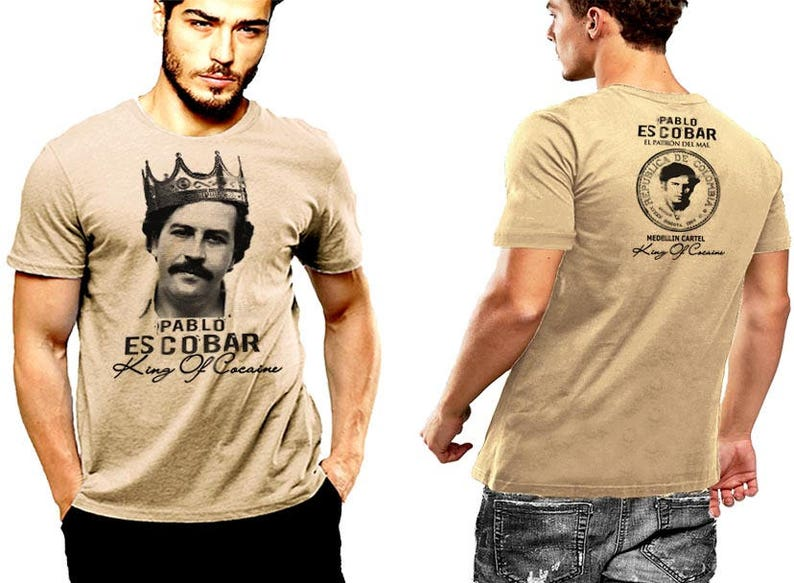 a35fe00b Pablo Escobar T-shirt King Of Cocaine Crown Medellin Cartel | Etsy