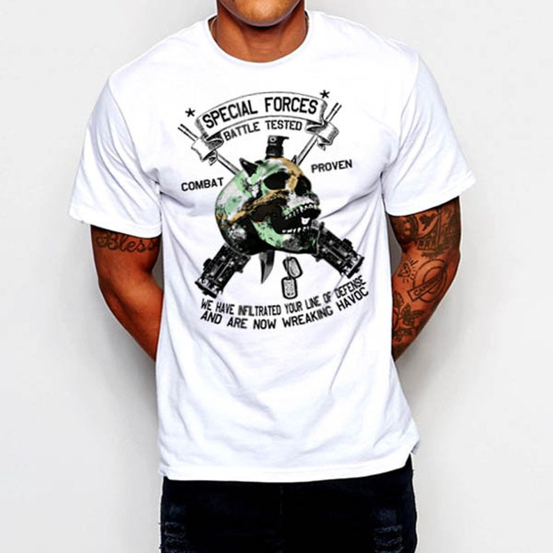 e251ceff Special Forces Combat Veteran T-Shirt Army Navy Marines Army | Etsy