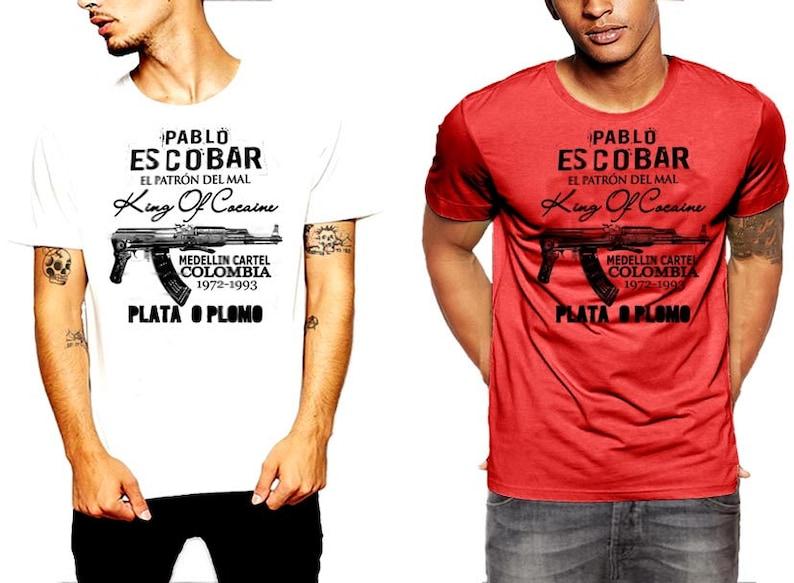a54d5b6d Pablo Escobar T-shirt AK-47 Short Stock Medellin Cartel | Etsy