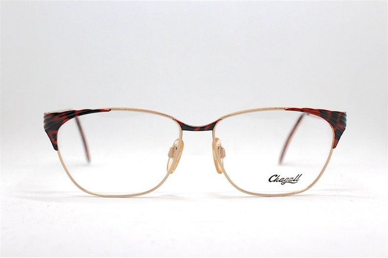 MADE IN ITALY woman cat eye square eyewear optical frame Chagall by Visibilia gold red black , Occhiali montatura da vista donna original