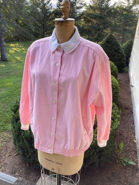 Vintage 1980s Alfred Dunner Pink Jacket