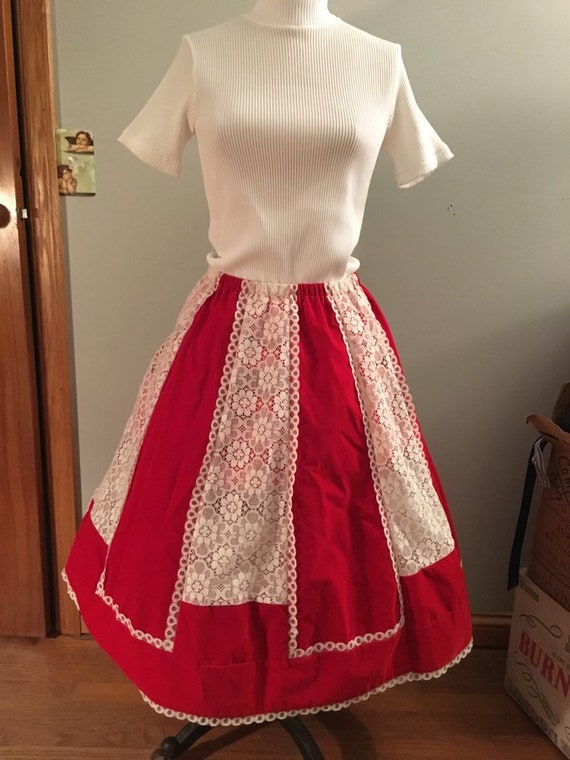 The Most Perfect Vintage Valentines Day Red & Lace