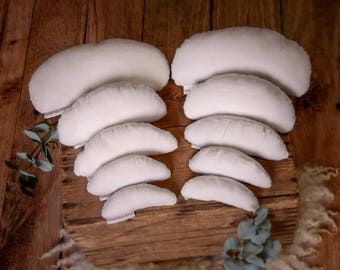 Set of 10 Positioning Pillows (filled) for Newborn Photography Posing Props