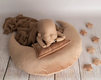 Xinapy 3pcs Newborn Photography Props Baby Posing Pillow Kid Photo Shoot Studio Positioner Infant Pillow Prop for Boy or Girl