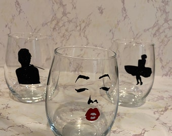 Movie Theme Wine Glass Charms-Set of 8-CINEMA003-8