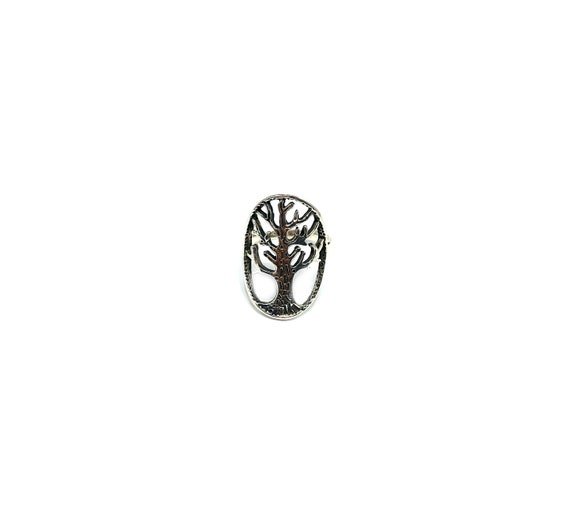 Sterling SILVER Cutout Cut Out Artisan TREE of Life Nature Branches Boho Bohemian Chic Statement Ring Jewelry Size 7