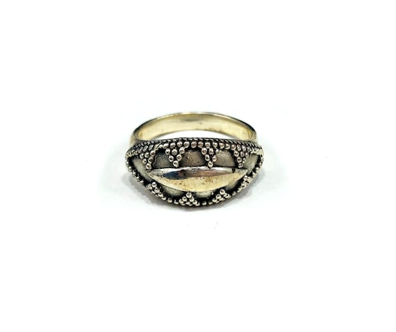 Vintage Sterling SILVER Southwestern Native American Statement Ring Jewelry Hippie Boho Chic Bohemian Southwest Festival