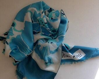 foulard NINA RICCI en soie vintage 1960 46419edc9e8