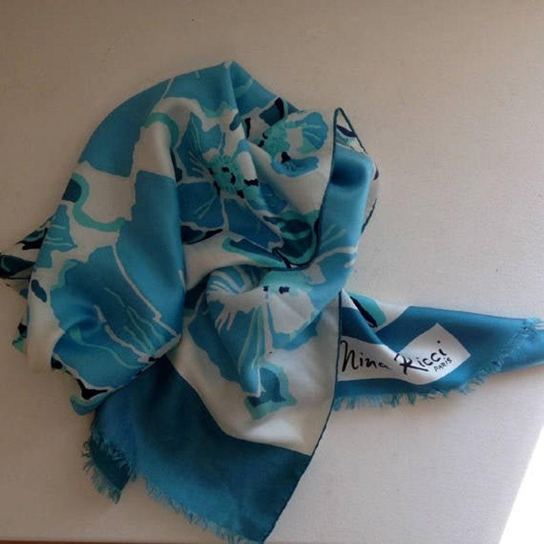 great fit order amazing selection NINA RICCI foulard bohème chic en soie - 1960 - french silk chic vintage  scarf