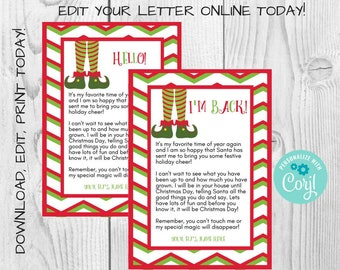 graphic about Elf on the Shelf Welcome Back Letter Printable identify Elf welcome letter Etsy
