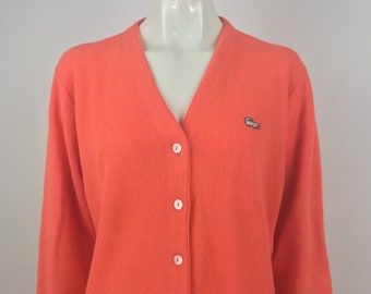 10e93db047a88 Vintage 1950s Haymaker Lacoste Cardigan Sweater