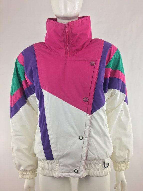 1980's Andy Johns White Ski Jacket w High Collar|8