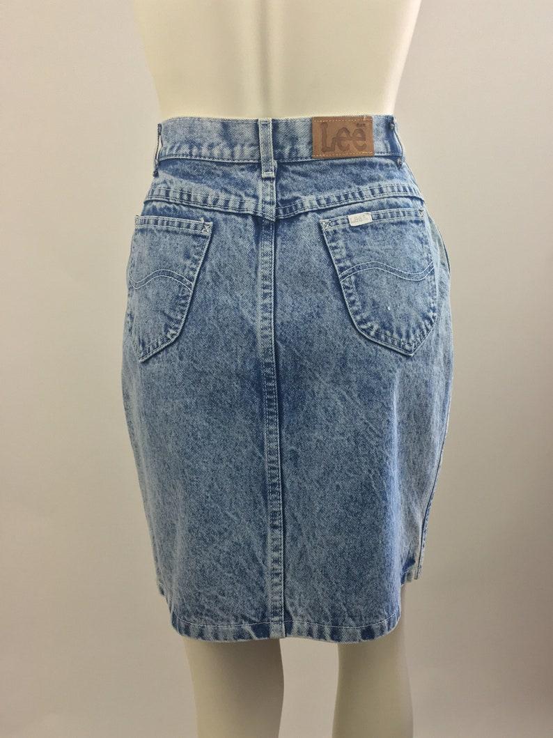 2776452399 Vintage Jean Skirt Acid Wash Lee Denim Skirt 100% Cotton | Etsy