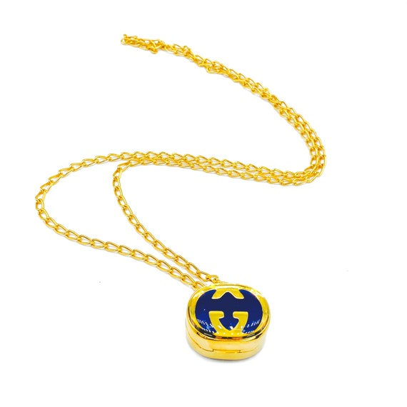 Gucci 1970s Vintage Pill Box Necklace