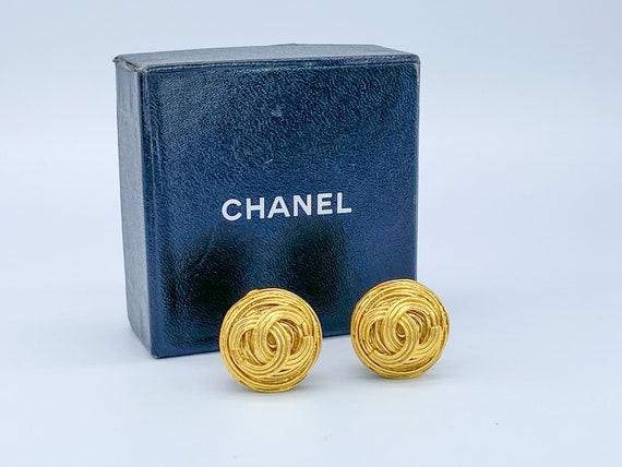 Chanel Earrings Vintage 1990s Clip On