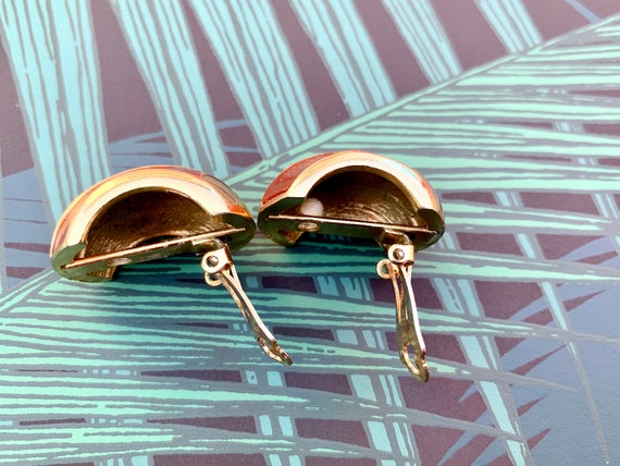 Lanvin 1970s Vintage Statement Clip on Earrings - image 7