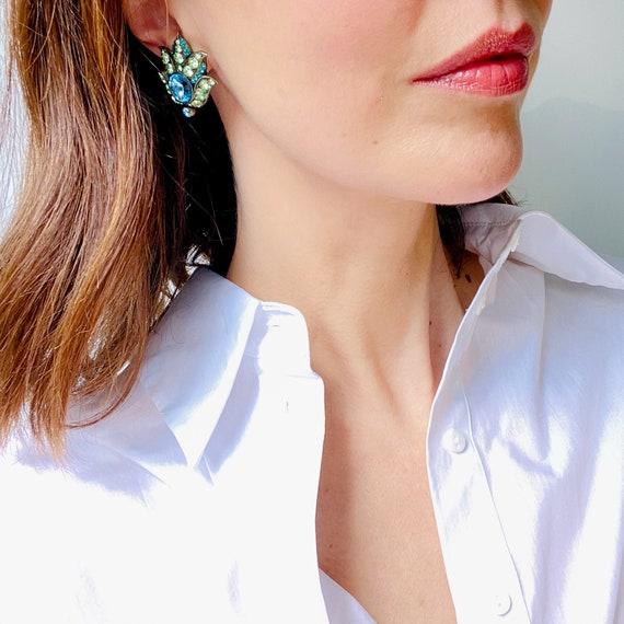 Lanvin Earrings Vintage 1980s Clip On - image 1