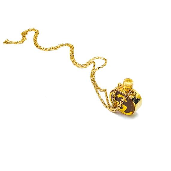 GUCCI Necklace Vintage 1970s Perfume Bottle Penda… - image 5