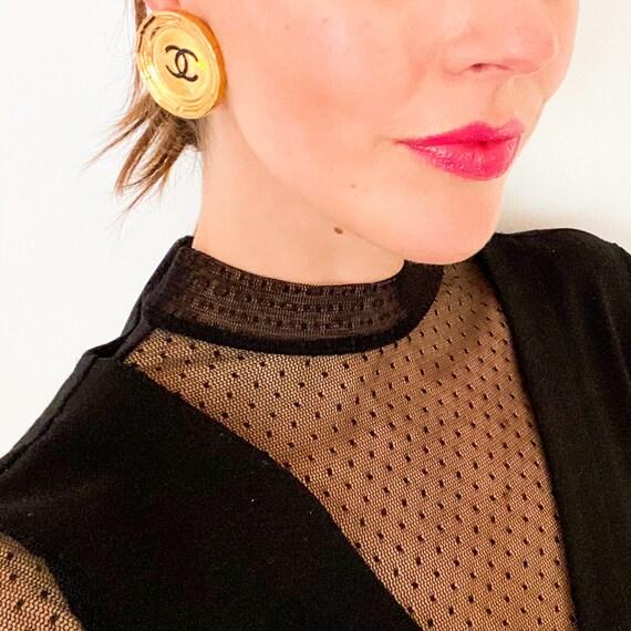 CHANEL Earrings Vintage 1990s
