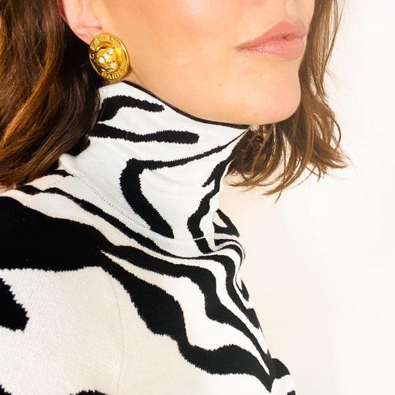 CELINE Earrings Vintage 1990s
