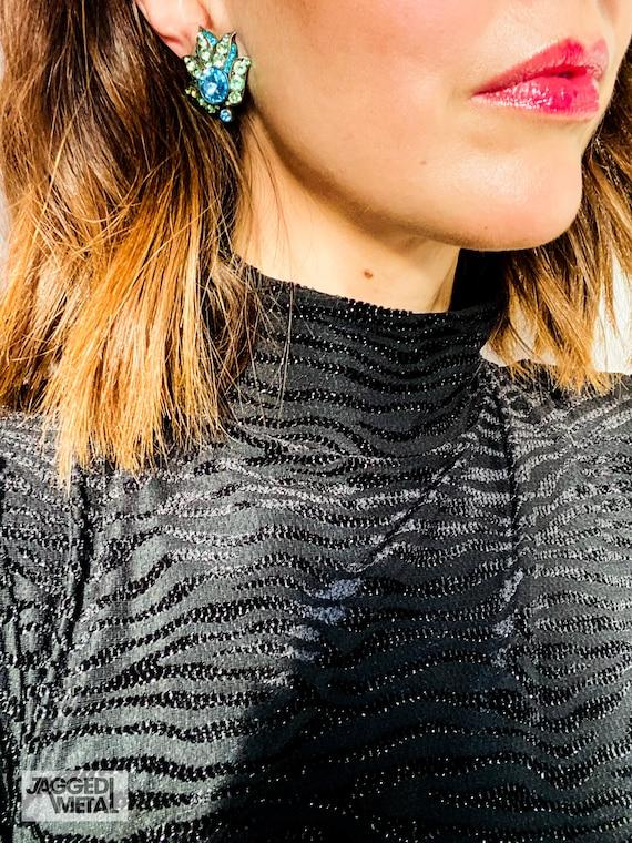 Lanvin Earrings Vintage 1980s Clip On - image 6