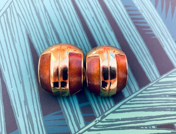Lanvin 1970s Vintage Statement Clip on Earrings - image 3