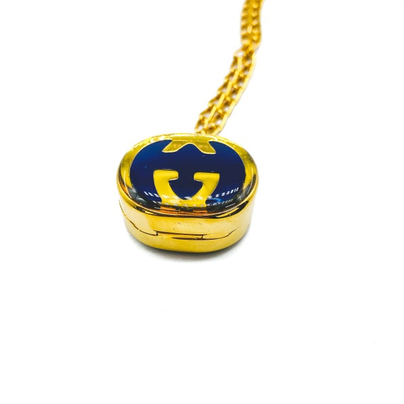 Gucci 1970s Vintage Pill Box Necklace - image 5