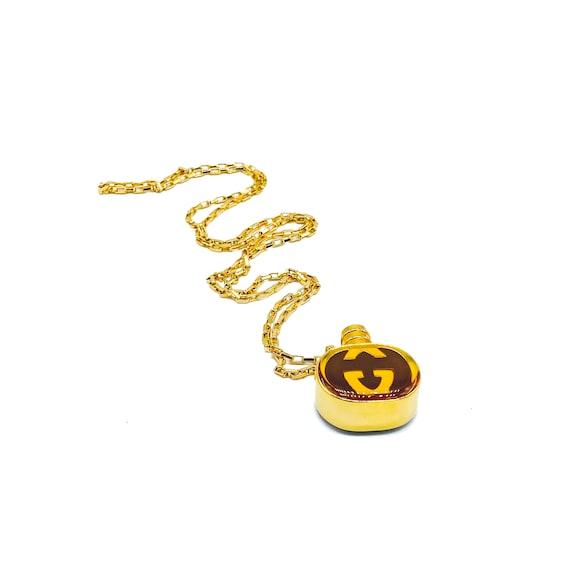 GUCCI Necklace Vintage 1970s Perfume Bottle Penda… - image 7