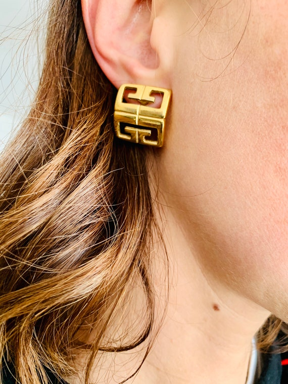 Givenchy 1980s Vintage Earrings for Pierced Ears