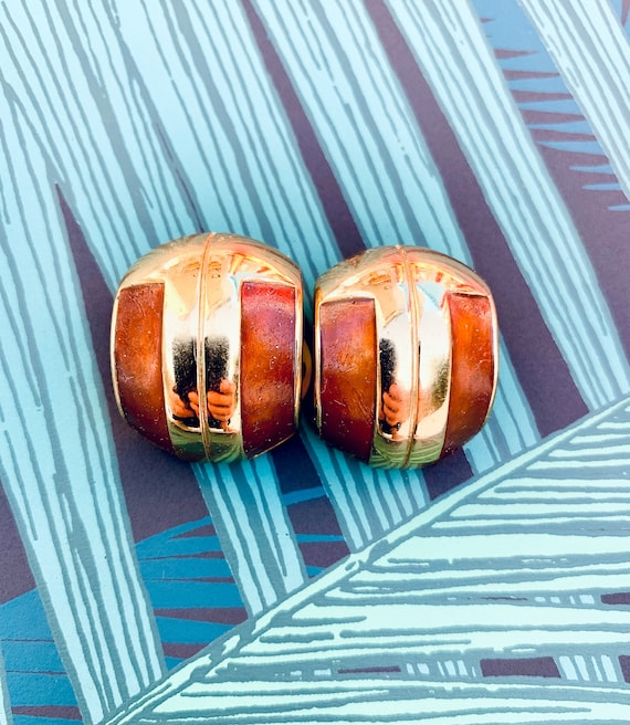 Lanvin 1970s Vintage Statement Clip on Earrings - image 4
