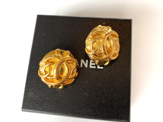 Chanel Earrings Vintage 1980s - image 9