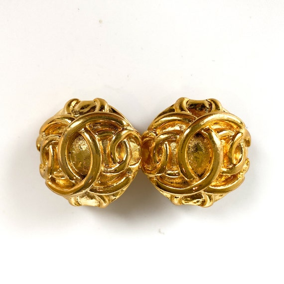Chanel Earrings Vintage 1980s - image 10