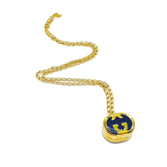 Gucci 1970s Vintage Pill Box Necklace - image 9