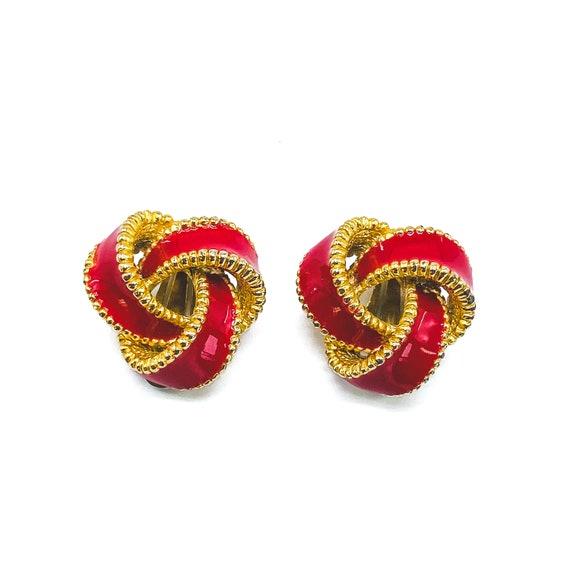 1980s Vintage Enamel Earrings