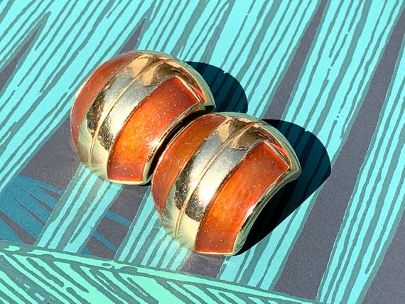 Lanvin 1970s Vintage Statement Clip on Earrings - image 2