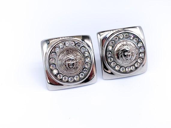 Versace Earrings Vintage 1990s Clip On