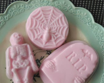 Spiderweb strawberry angel food cake scented soap