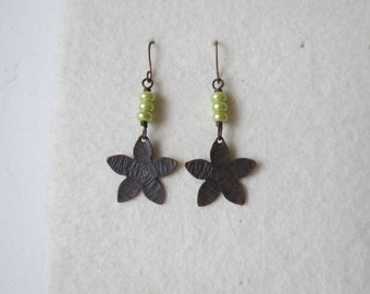 Floret ... handcrafted copper earrings
