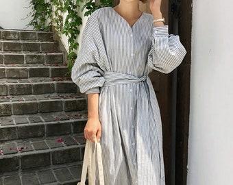 980926dec4 Natural linen dress