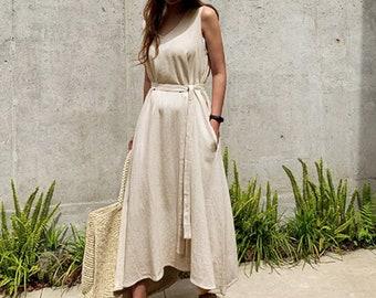 9eef48b1ff65 Maxi wrap dress / flare dress / Cotton maxi dress / summer dress / summer  maxi dress / Linen dress / Linen maxi dress / boho Pinafore dress