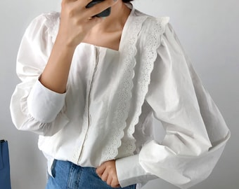 a04ccecb White lace top,lace blouse,lace tunics,loose fit blouse,tunics for  women,tops for women,lace top,White top,eyelet blouse,eyelet top,White
