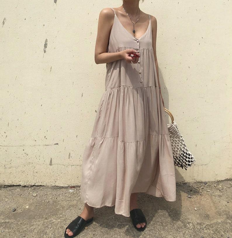 357c03b58fea Maxi dress / flare dress / Cotton maxi dress / summer dress /   Etsy