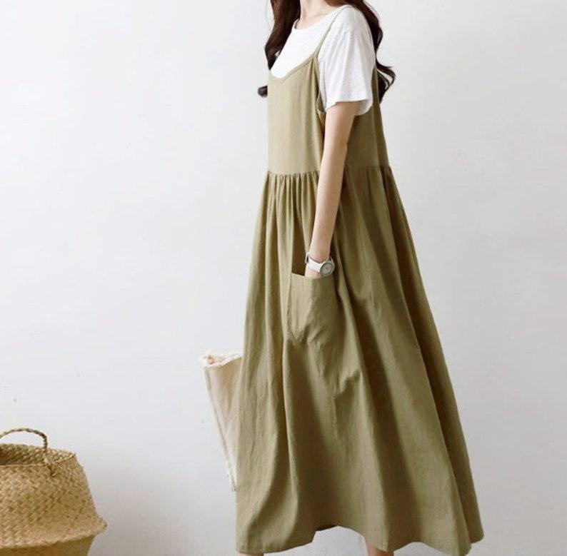 edc9ab5c55f0 Linen Maxi dress / flare dress / Cotton maxi dress / summer   Etsy