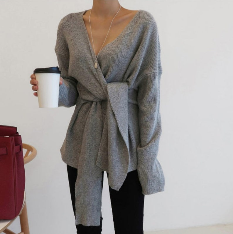 Sweaters for women / knits for women / knit top / Wrap top / image 1
