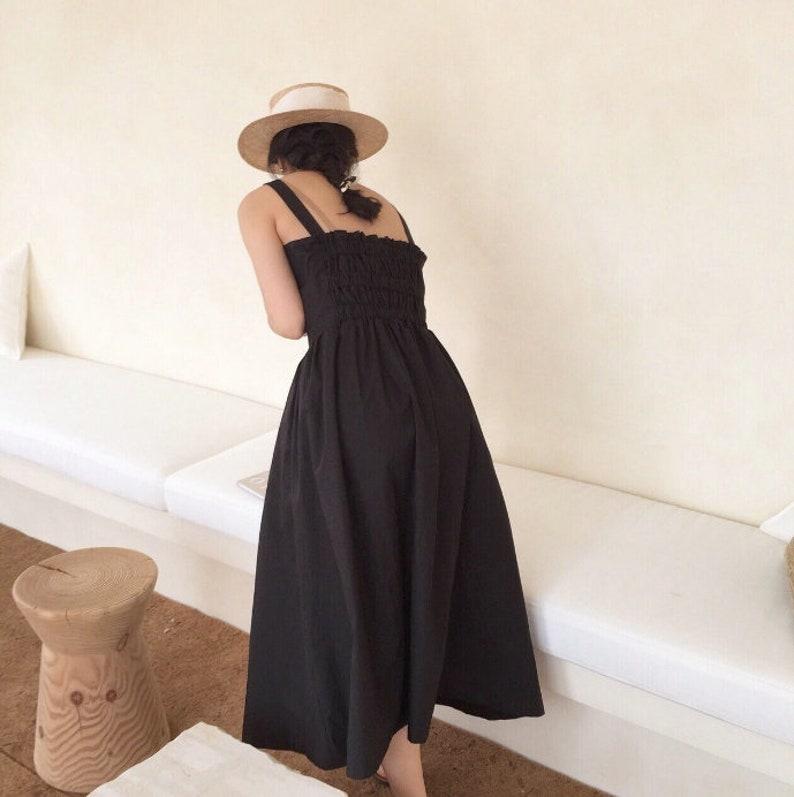 23db7e775359 Cotton Pinafore dress / flare dress / Cotton maxi dress /   Etsy