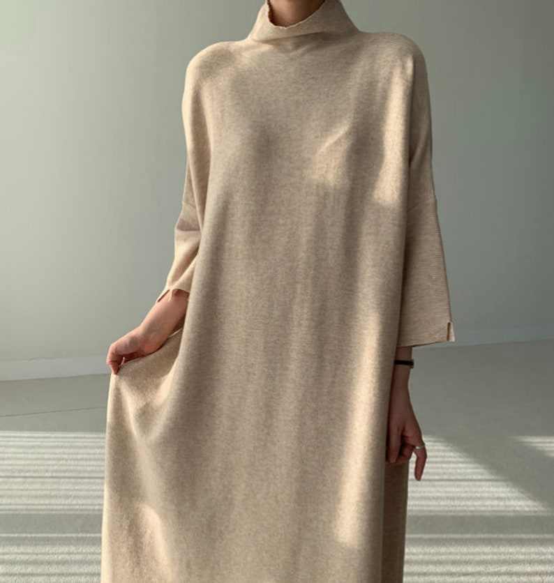 loose long dress maxi tunic dress Loose fitting long dress knit dress maxi dress boho dress flare dress Loose fit long dress